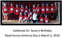 Dr. Seuss's Birthday is March 2, 2016